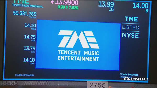 Tencent Music debuts IPO on NYSE