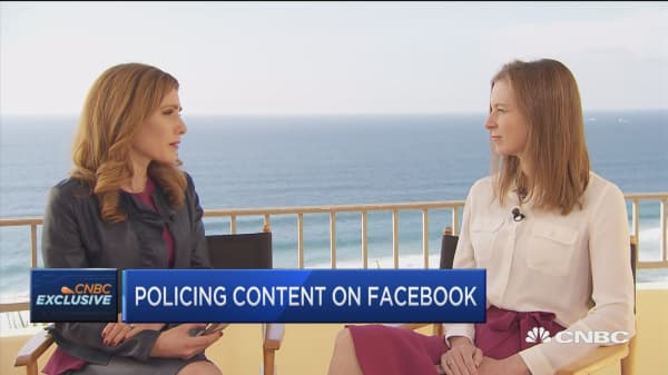 Facebook VP Bickert discusses efforts to combat hate speech