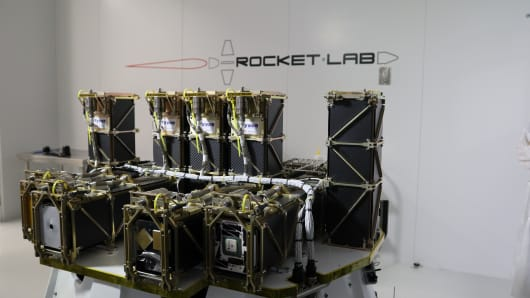 Rocket Lab's payload of 13 satellites for the Educational Launch of Nanosatellites 19 (ELaNa-19) mission for NASA.