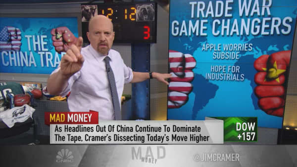 Here are the stocks that would get the biggest boost if US and China near a trade deal: Cramer