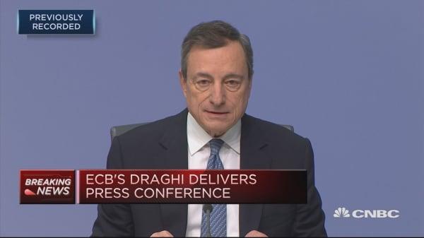 ECB's Draghi speaks after central bank announces formal end of QE