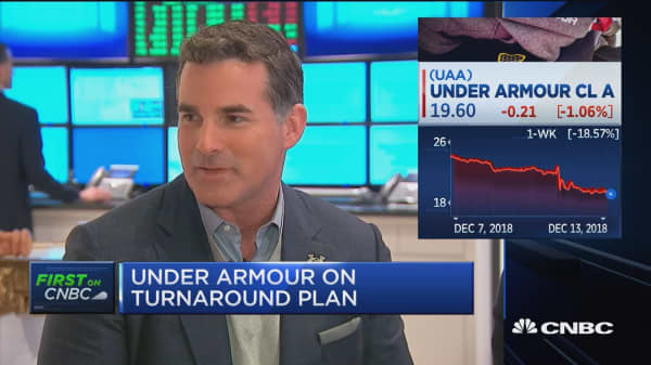 Under Armour president: We're rebuilding into a premium brand in 2019