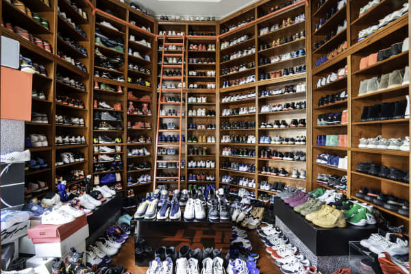 DJ Khaled's custom sneaker room