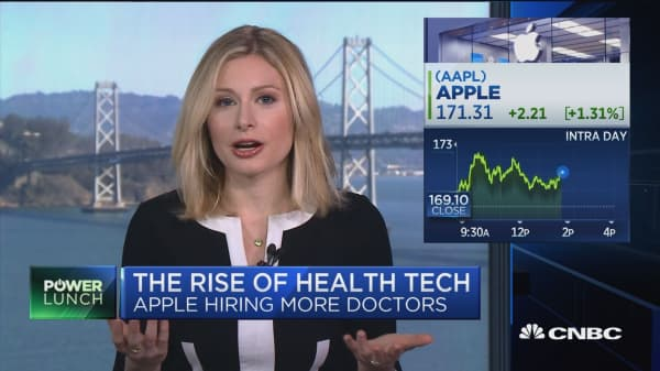 Apple doubling down on health, has hired over 40 doctors