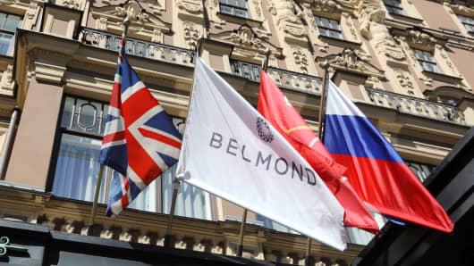 The Belmond Grand Hotel Europe in St Petersburg.