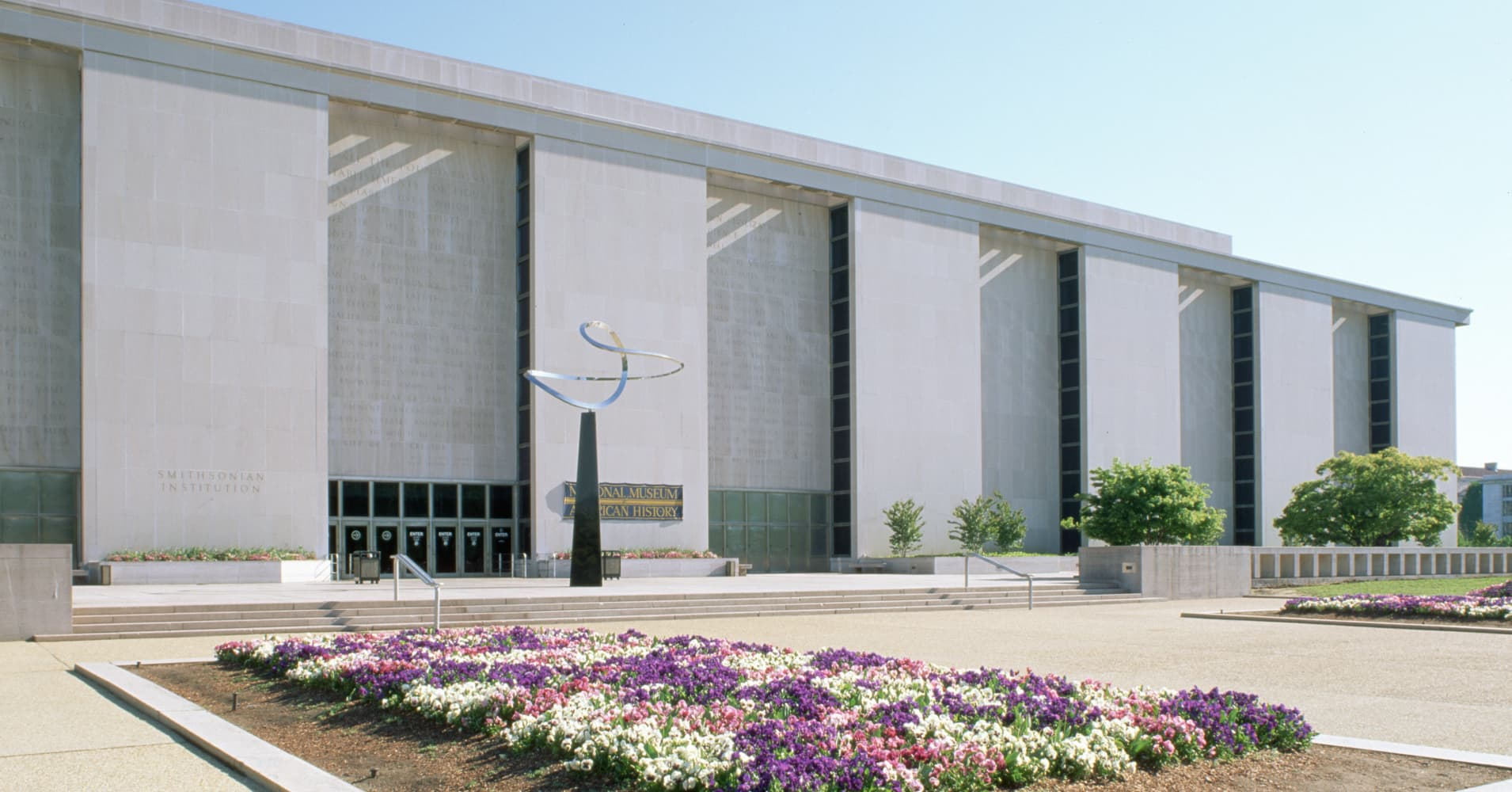 The south facade of the National Museum of American History.