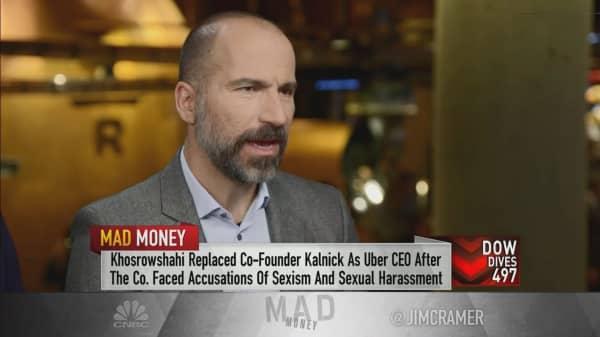 Starbucks, Uber CEOs on new partnership, company culture