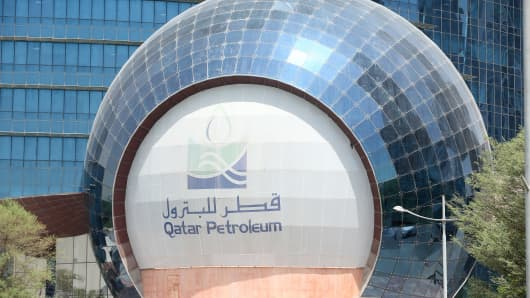 A view of the headquarters of Qatar Petroleum in Doha, Qatar, on July 4, 2017.