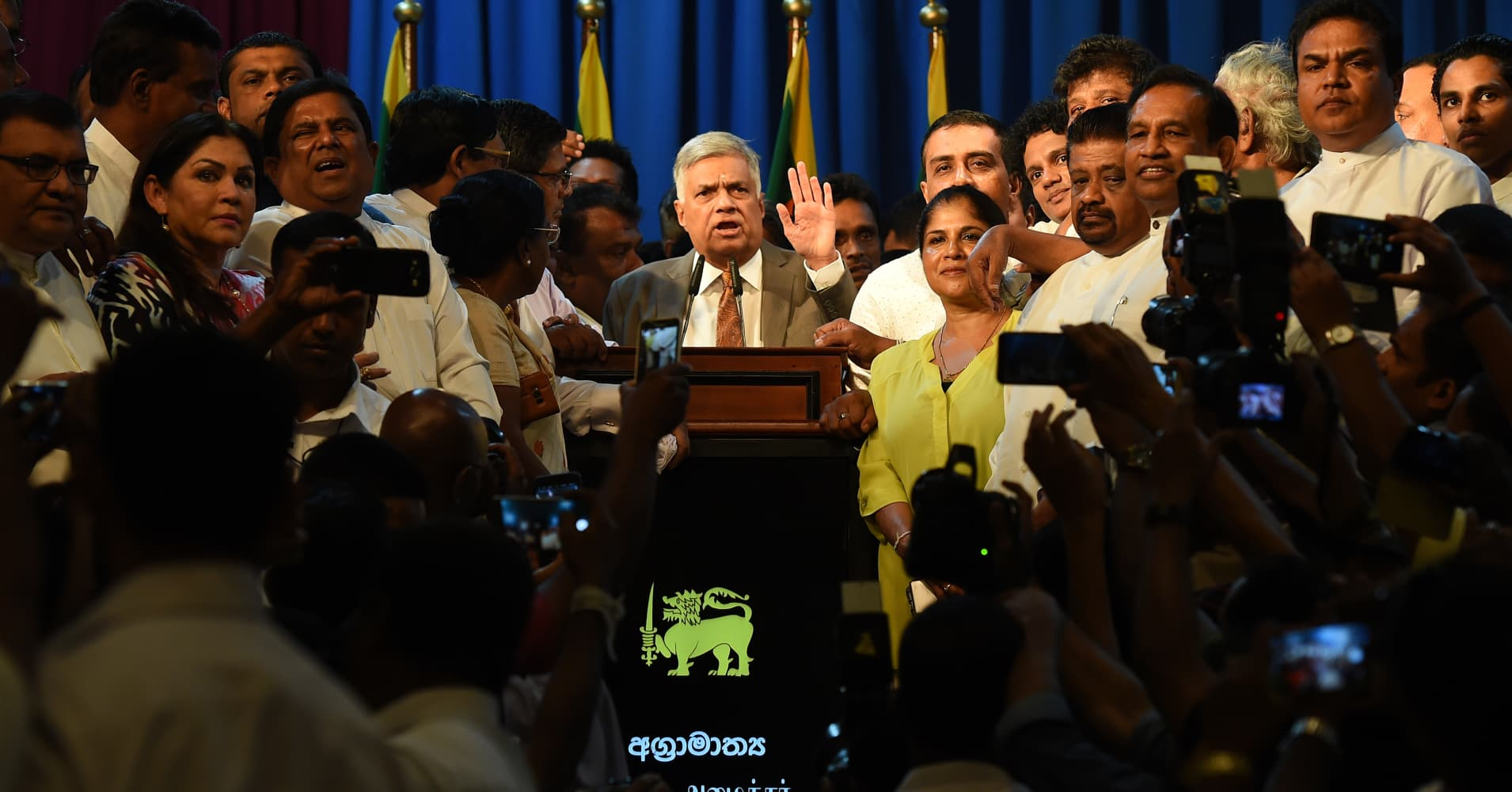 Sri Lanka's president accuses newly reappointed premier of corrupt leadership