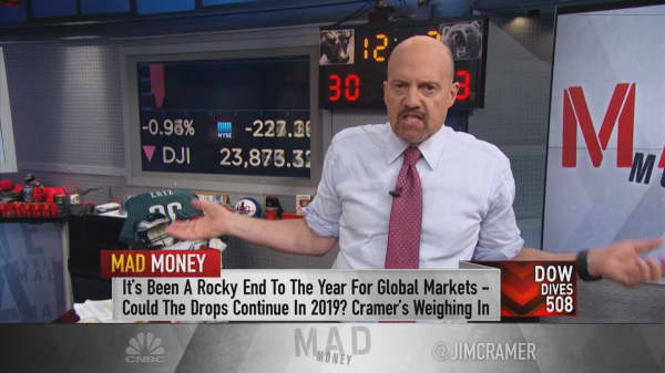 What needs to happen for the market to bottom, according to Cramer