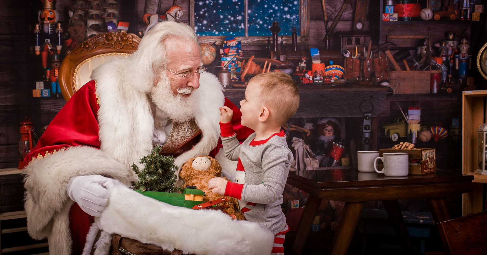 Santa Rick Rosenthal during a holiday photo session.