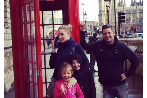 The Feldman family in London, England.