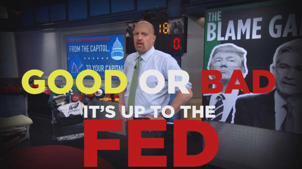 Cramer Remix: In the economic blame game, the Fed is a bigger problem than Trump