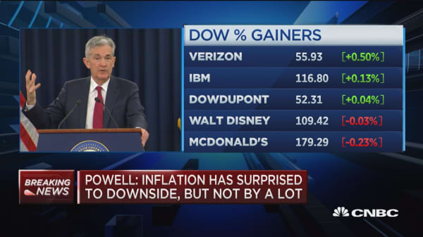 Powell: We see growth moderating in future