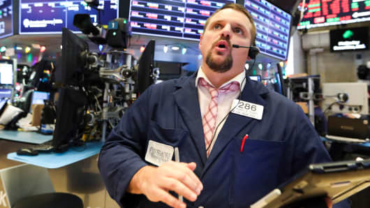 A trader works at the New York Stock Exchange on Dec. 19, 2018.
