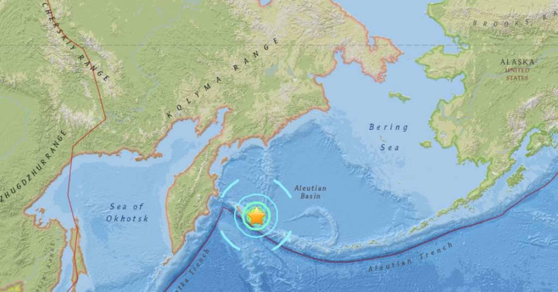 Powerful quake strikes off Russia's Far East, says USGS