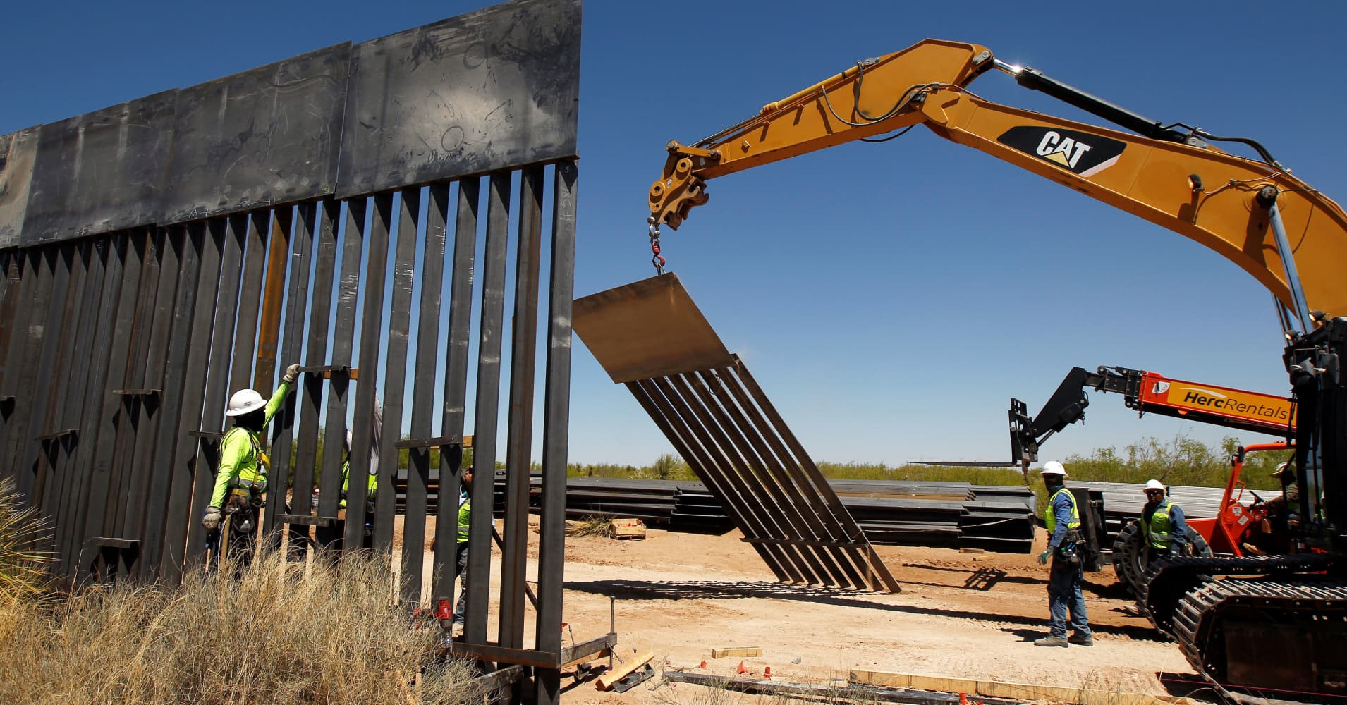 Trump tariffs would make a 'steel slat' border wall much more expensive for taxpayers