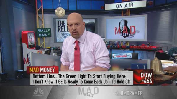 Cramer says GE 'deserved to rebound', but still won't buy it