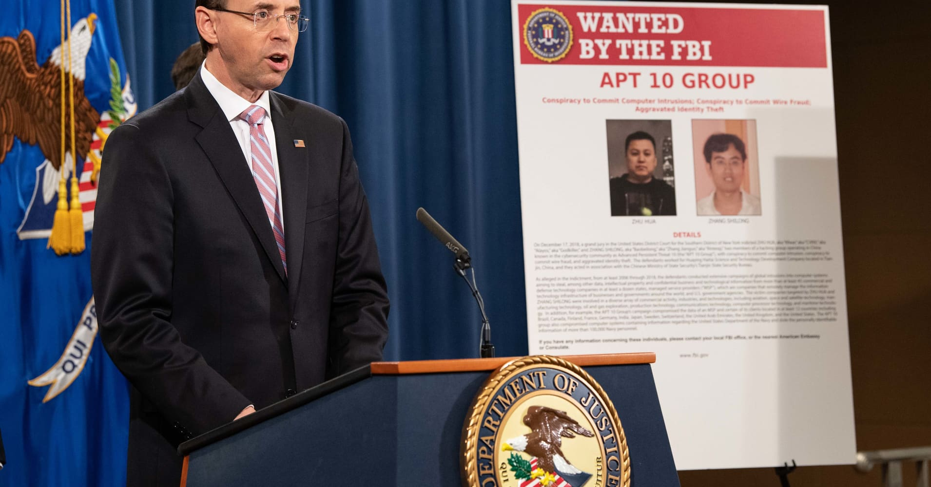 China denies 'slanderous' economic espionage charges from US, allies
