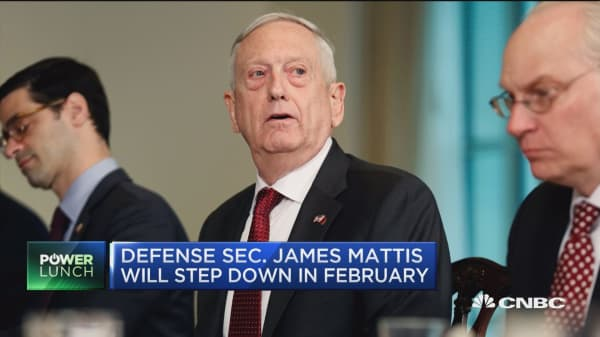 Defense Secretary Jim Mattis announces resignation in February
