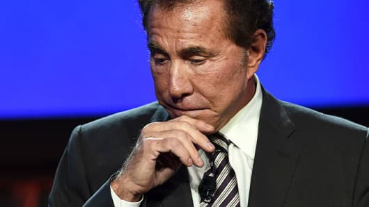 Former Wynn Resorts' CEO Steve Wynn at the Venetian Las Vegas on September 30, 2014.