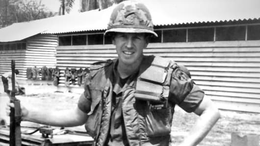 A photo of U.S. Army Captain Mike Shanahan during the Vietnam War.
