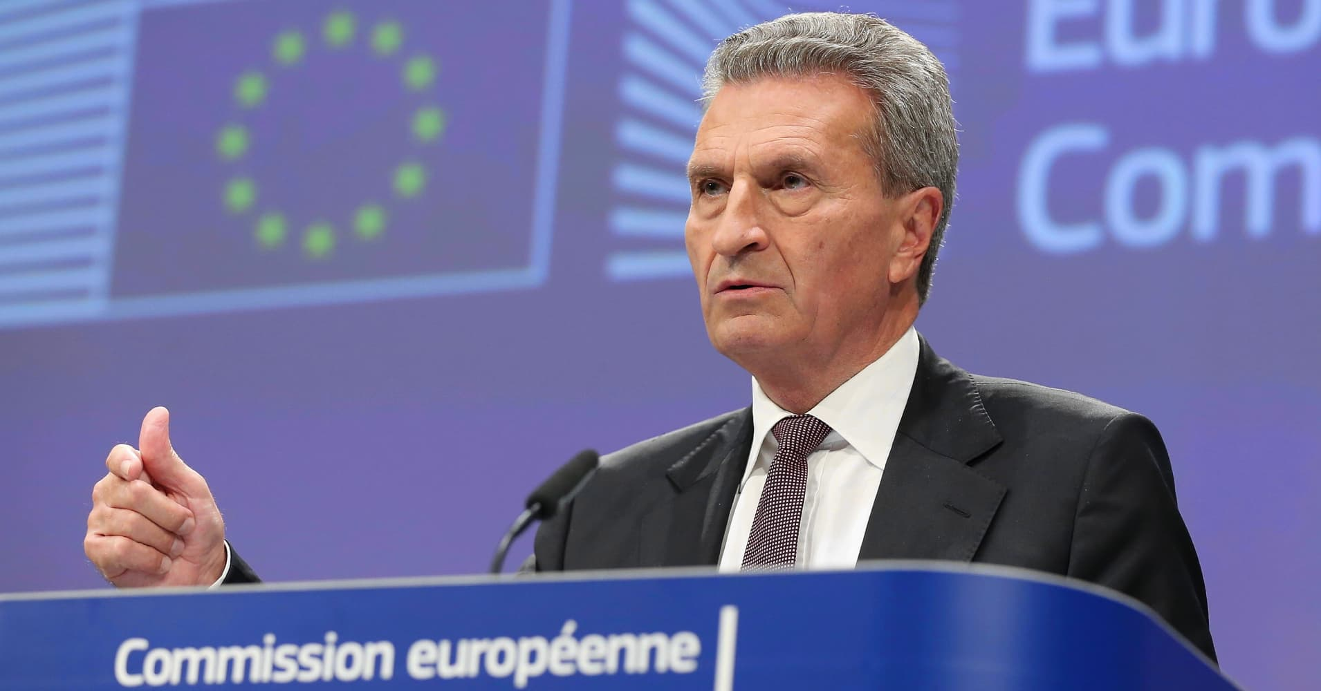EU's Oettinger sees a chance UK parliament will vote for Brexit deal