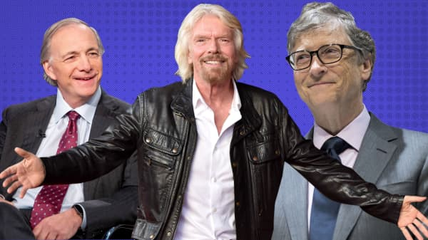 This is how billionaires Richard Branson, Bill Gates and Ray Dalio set goals