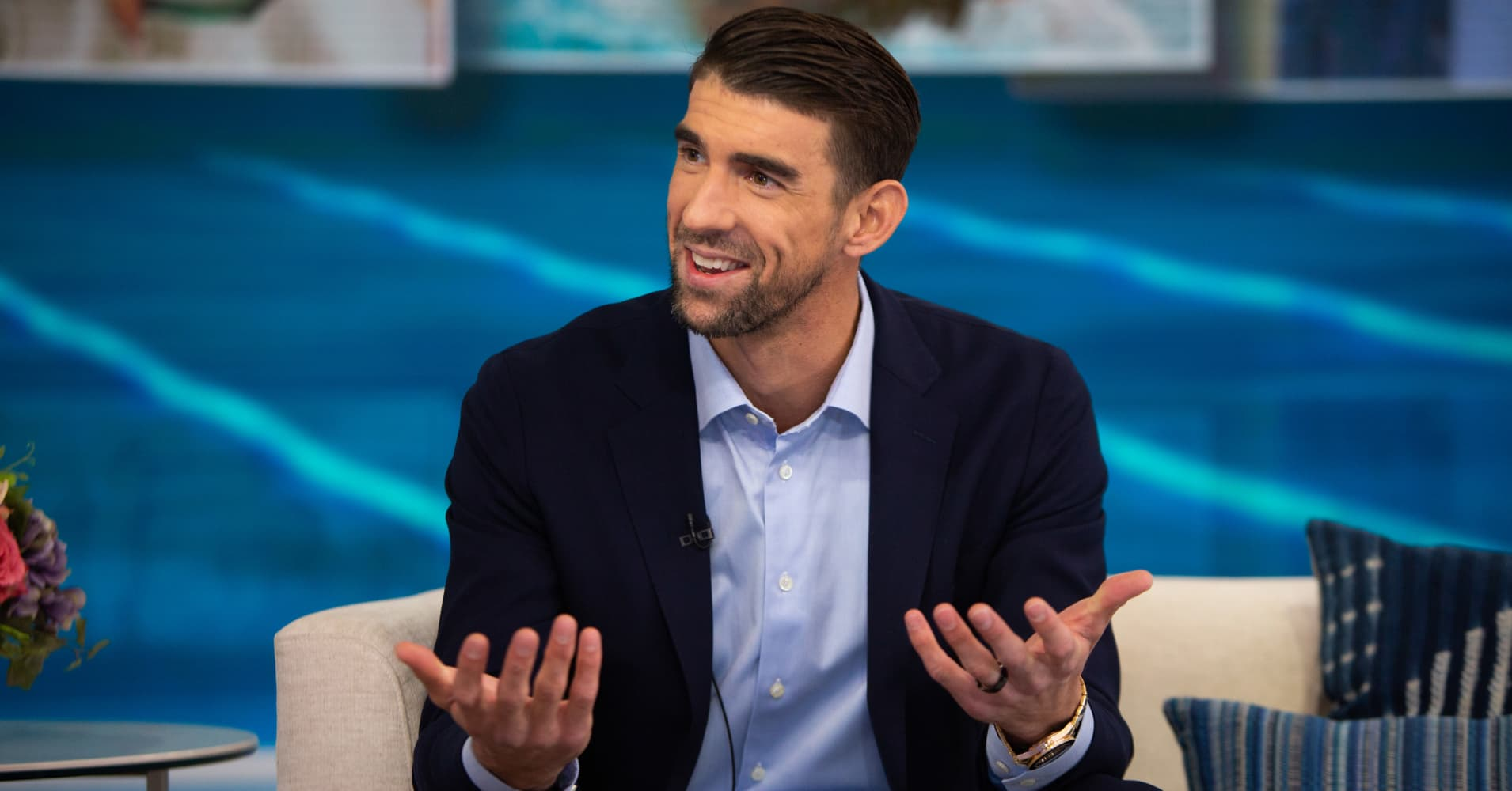 Michael Phelps on Thursday, October 25, 2018.