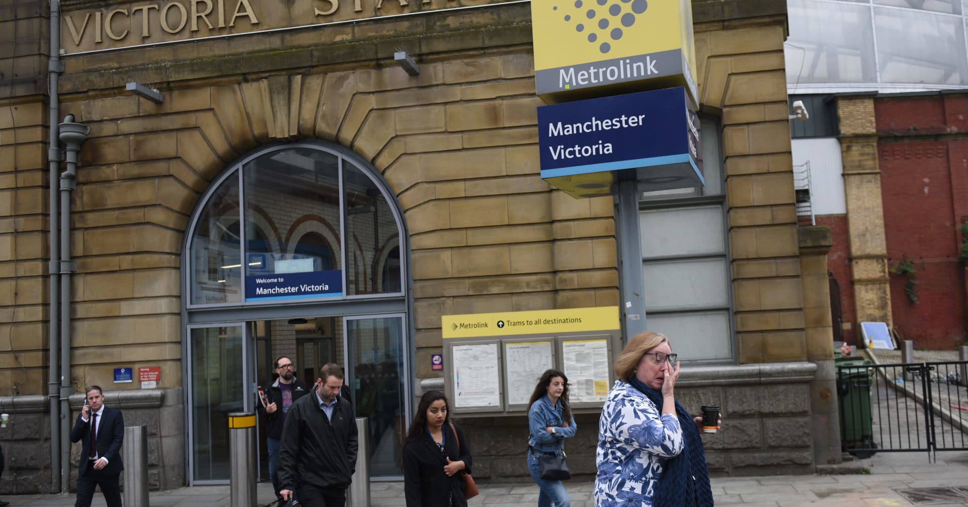 UK counter terrorism police investigate stabbings in Manchester
