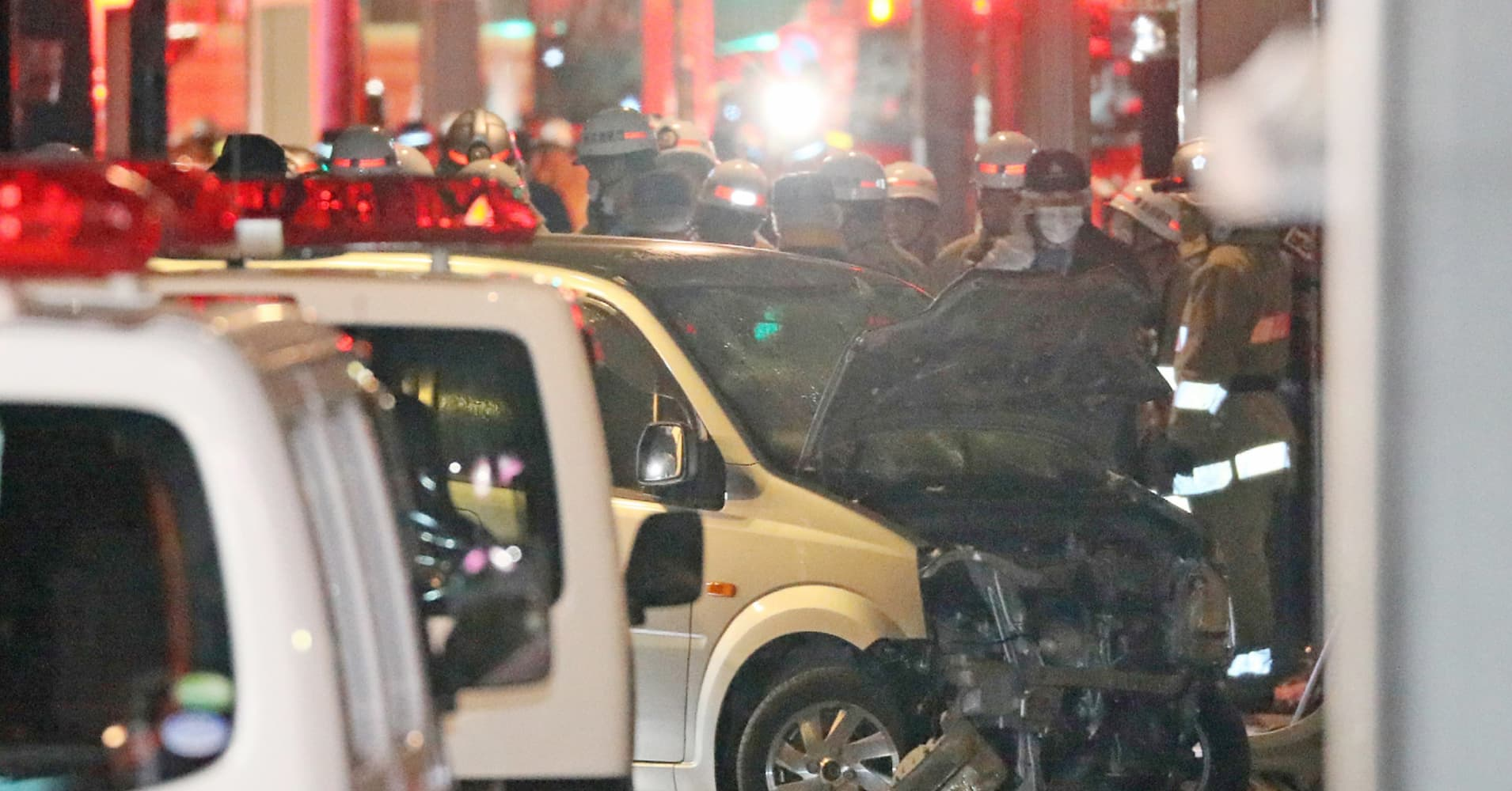Vehicle ploughs into New Year's crowd in Tokyo, injures eight people