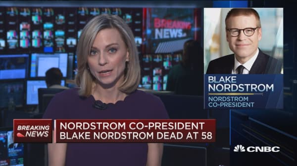 Nordstrom co-president Blake Nordstrom dies from brain cancer at 58