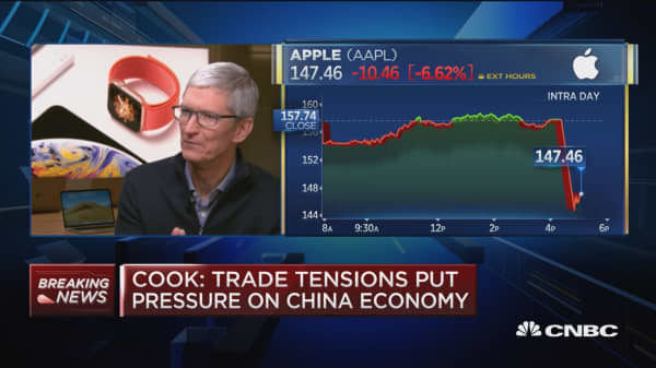 Trade tensions put pressure on Chinese economy: Cook