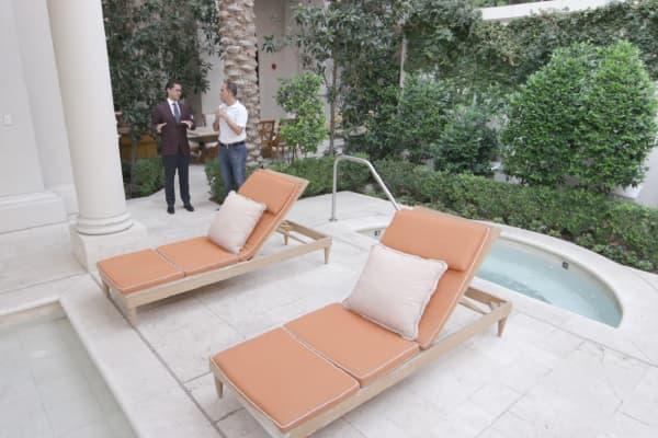 The Trajan Villa's private pool at Caesars Palace Las Vegas.
