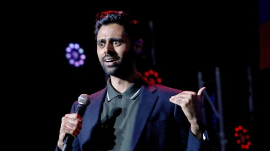 Comedian Hasan Minhaj attends the 11th Annual Stand Up for Heroes on November 7, 2017.