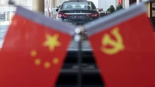 A vehicle at a Hongqi car dealer in Beijing on Nov. 22, 2018.