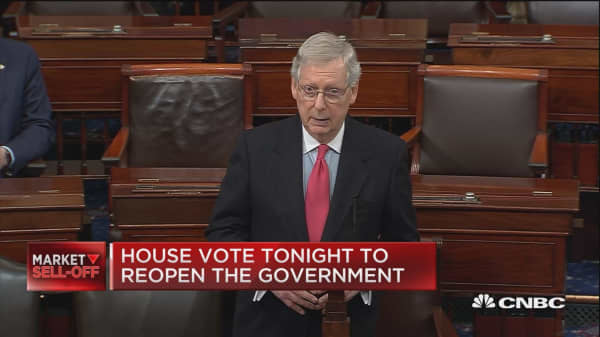House vote tonight to reopen the government