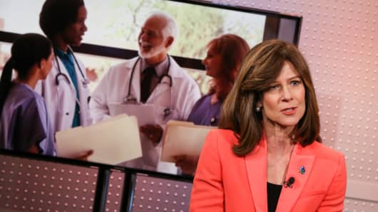 Susan Salka, CEO of AMN Healthcare.
