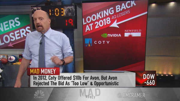 Cramer on the S&P 500's biggest losers for 2018's last quarter