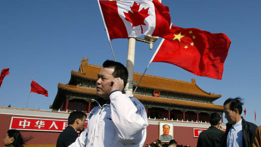 Image result for china, canada, flags, pictures