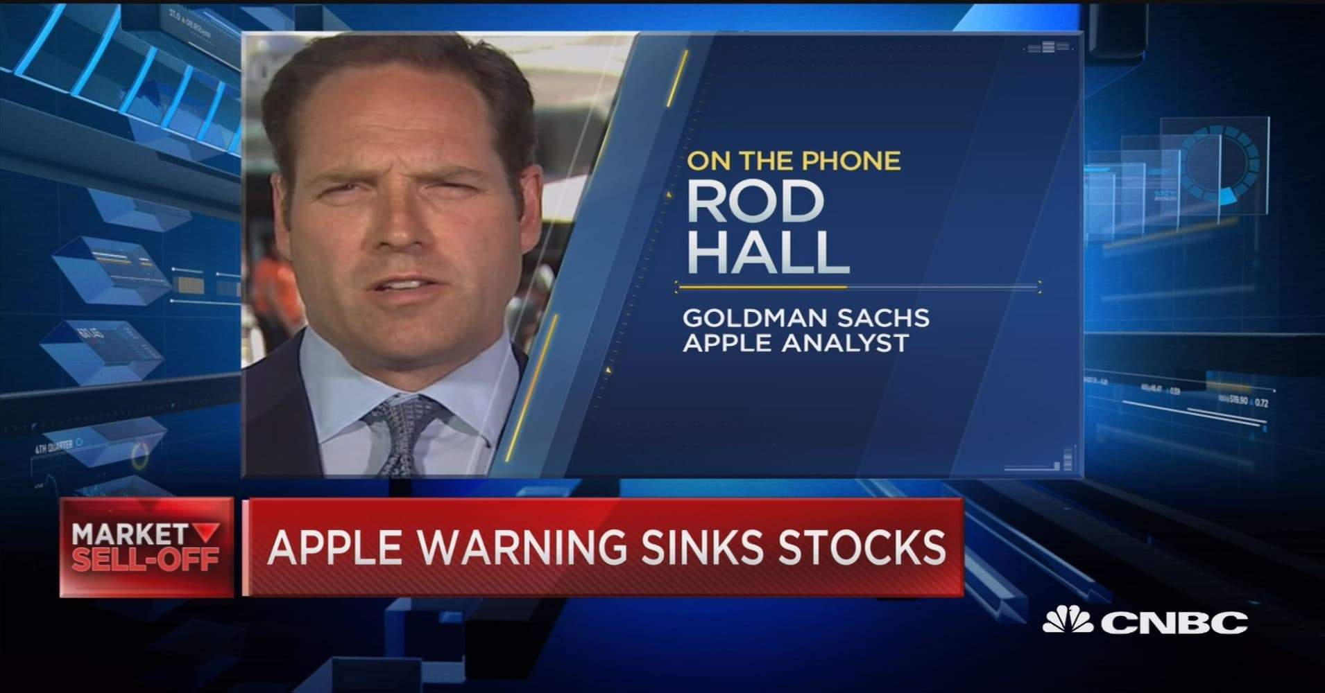 Apple's replacement demand in China has blown out, says Goldman Sach's Rod  Hall
