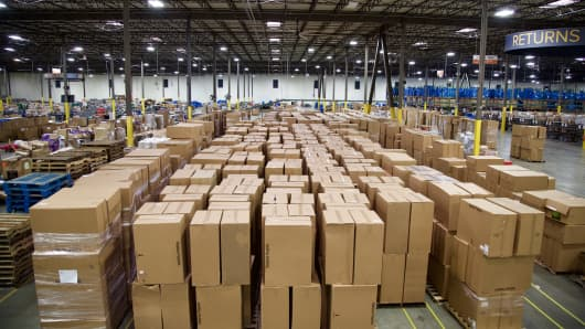 Optoro warehouse in Tennessee that handles returns for retailers