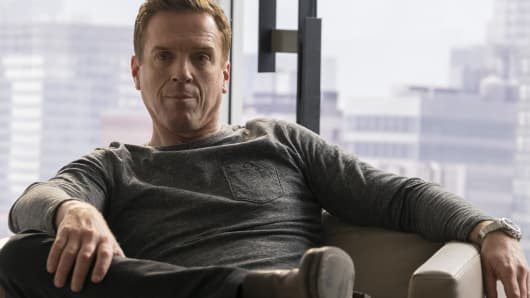 """Damian Lewis as Bobby Axelrod in  the original series """"BILLIONS"""" airing on Showtime."""