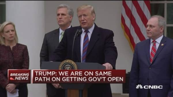 Trump: I did say I'm prepared for shutdown to go on for years