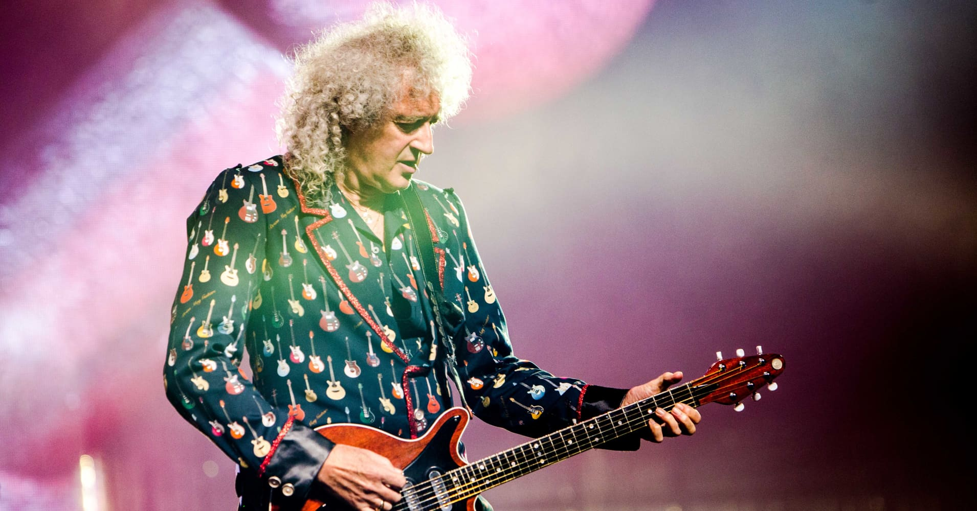 Queen guitarist Brian May has just released his new single 'New Horizons', on January 2019. The track is May's first solo single in more than 20 years. (Photo by Mairo Cinquetti/NurPhoto via Getty Images)