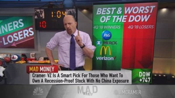 Cramer reveals some of his favorite Dow stocks for 2019
