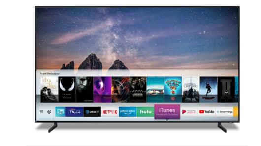 iTunes in esecuzione su una TV Samsung