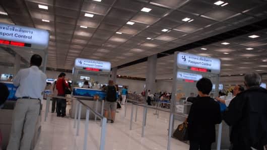 New Bangkok International Airport, Bangkok, Thailand, on 21 October, 2006.