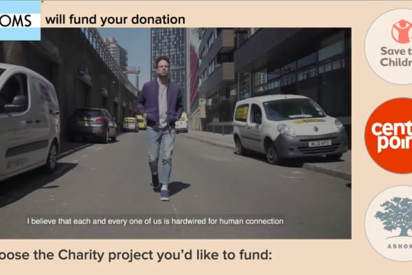 Shoe company Toms has used Good-Loop's advertising platform on video adverts
