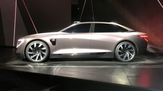 Concept version of Byton M-Byte, set to be 1st vehicle to go into production in China this year.